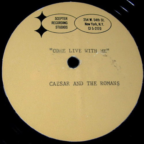 Caesar & the Romans Scepter demo acetate Come Live With Me