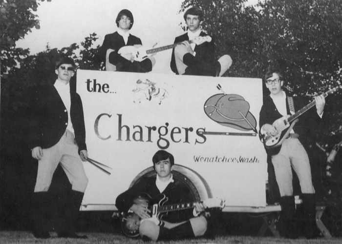 The Chargers: Tony Morgan, Ron Kinscherf, Steve Nelsen, Steve Barone, and Curt Dorey