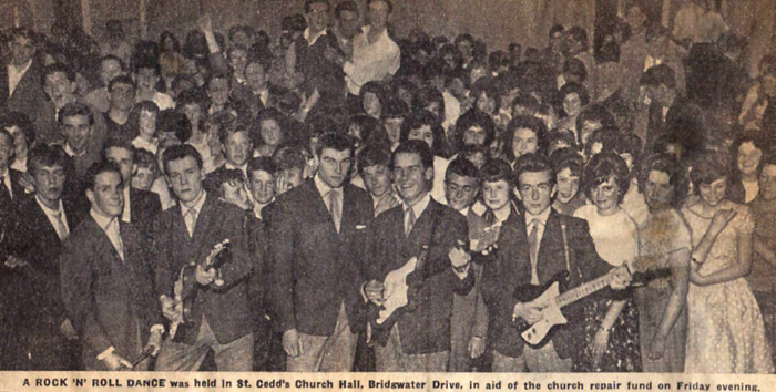 A clip from the local paper, gig at St Cedds in May 1961
