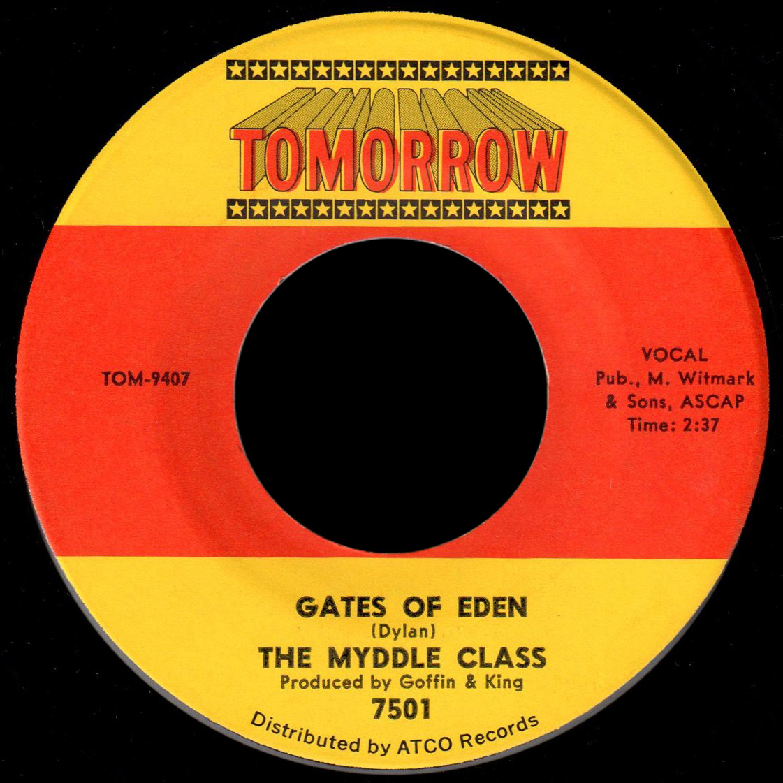 Myddle Class Tomorrow 45 Gates of Eden
