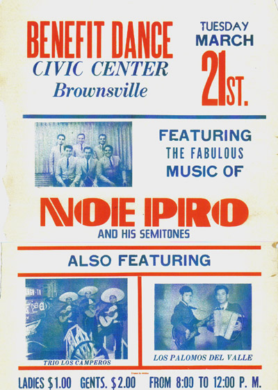 Noe Pro and His Semitones Brownsville Civic Center