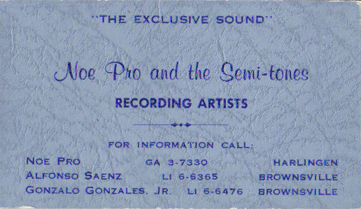 Noe Pro and the Semi-Tones business card