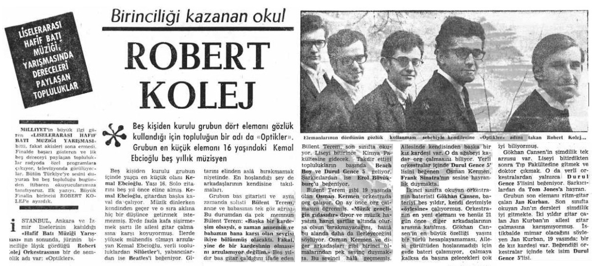 Article in Milliyet, November 3, 1967