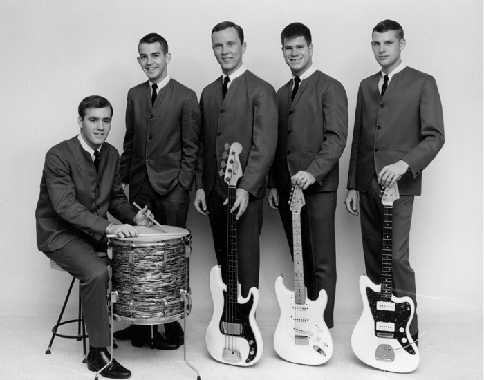 The Ramblers, left to right: Johnny Robinson (seated), Chip Sanders, Chris Convey, Tommy Terrell and Van Veenschoten