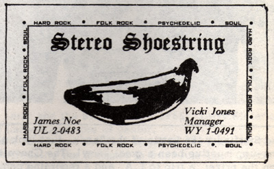 Stereo Shoestring business card