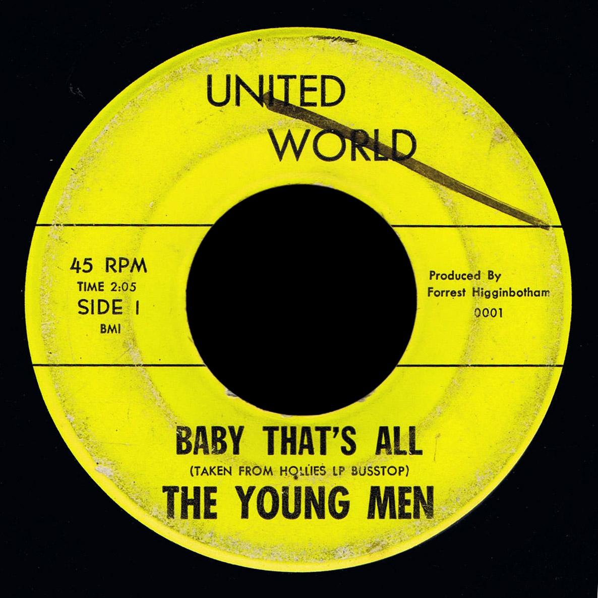 Young Men United World 45 Baby That's All