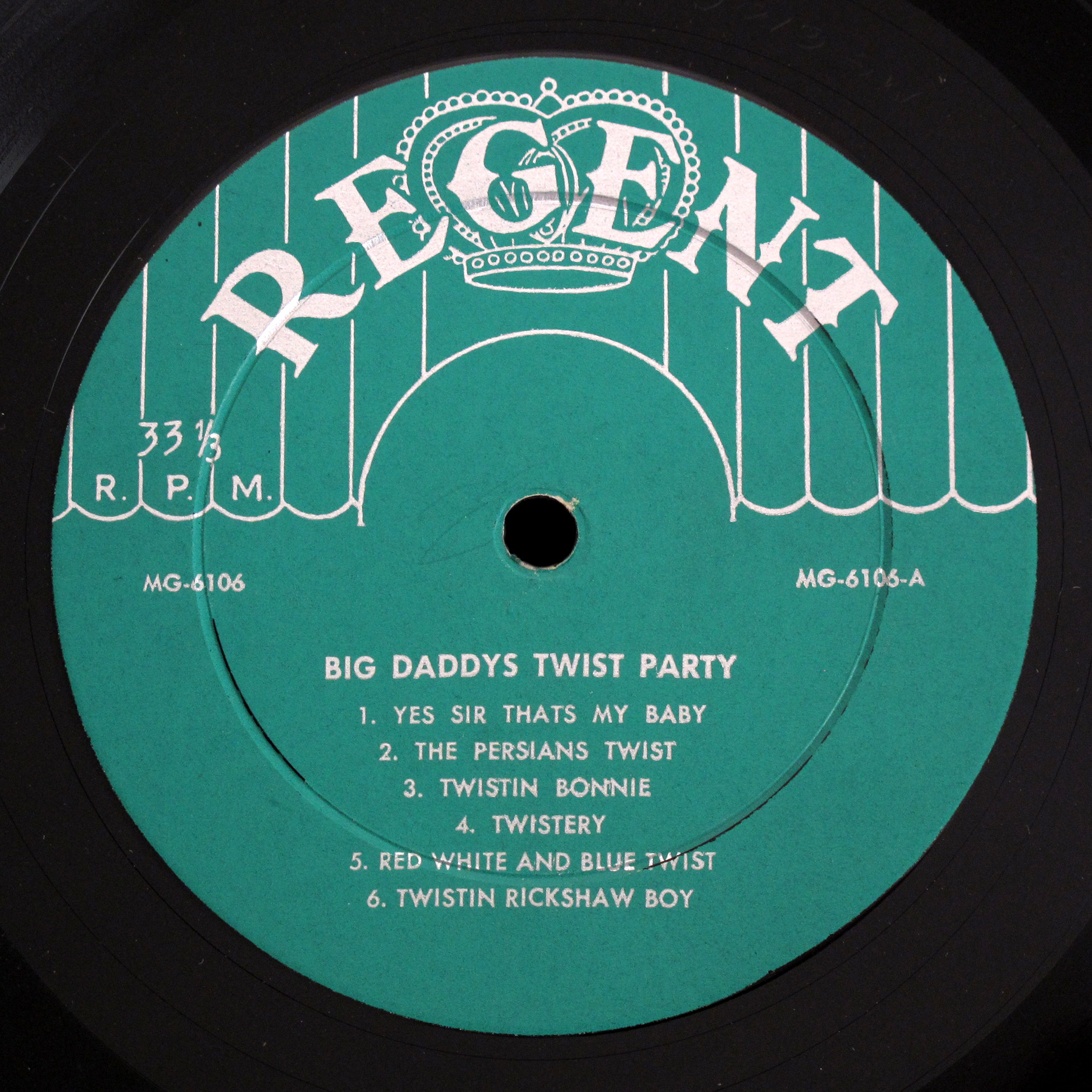 Herb Zane Regent LP Big Daddys Twist Party