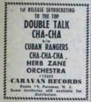 Herb Zane Orchestra Caravan 45 ad in Billboard, June 30, 1956