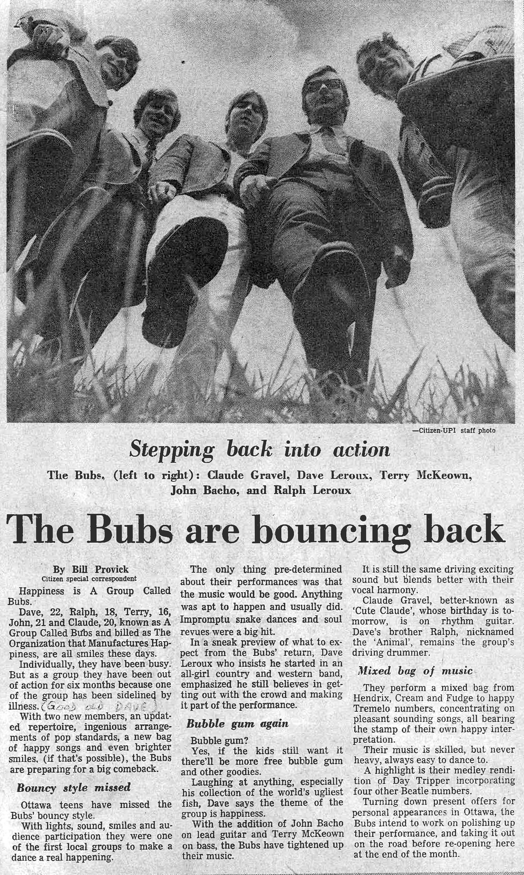 A Group Called Bubs | Garage Hangover