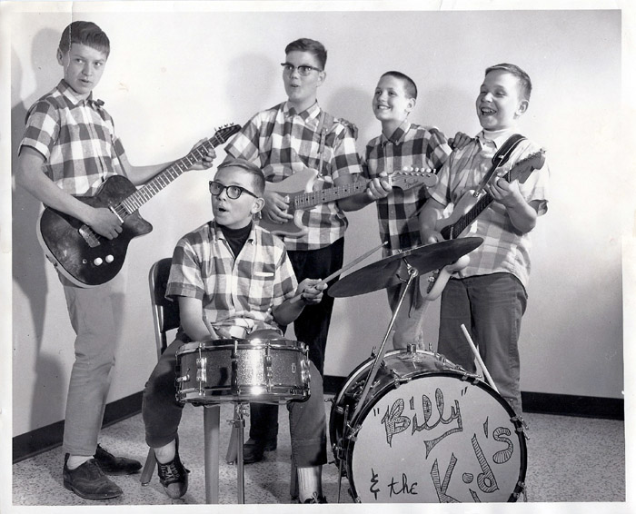 Very early photo of Billy & the Kids, courtesy of Bob Gourlie