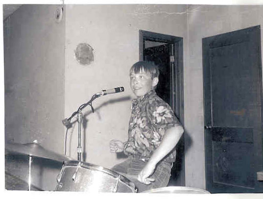 Bob Burns on drums