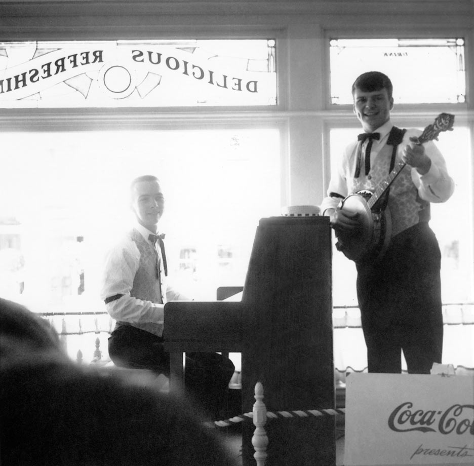 Bud Hedrick and Colin Scot at Coke Corner
