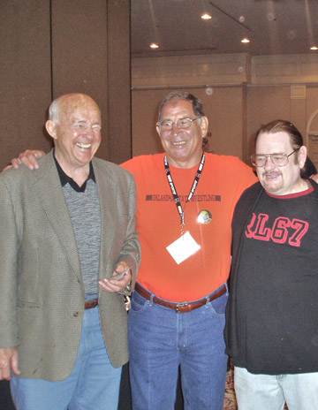 CAC 2004, from left: Verne Gagne, Jack Brisco and Tom Hankins