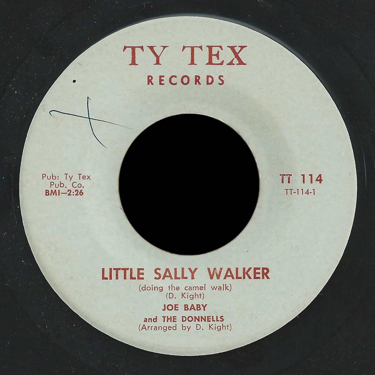 Joe Baby and the Donnells Ty Tex 45 Little Sally Walker
