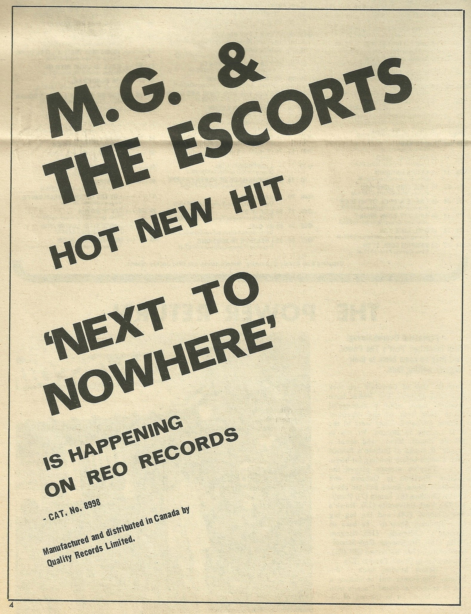 MG The Escorts A Someday Fool