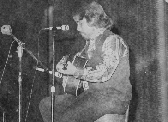 Randy Hall performing at the West Hills Music Club Variety Show in 1977