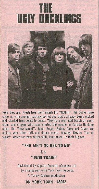 Ugly Ducklings, RPM, October 19, 1966
