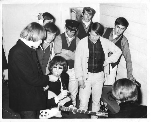 The Byrds and the Mustangs backstage
