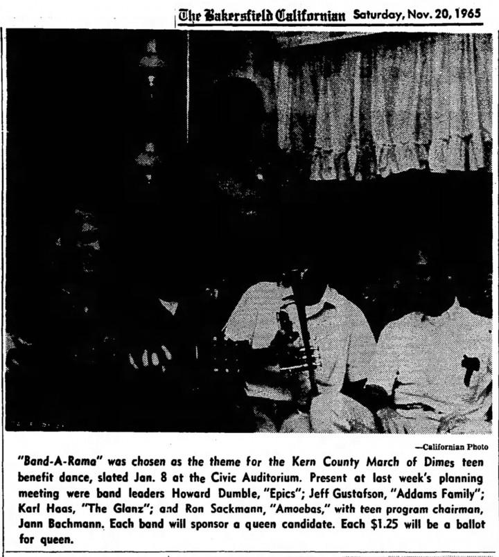 The Epics, Bakersfield Californian, Nov 20, 1965