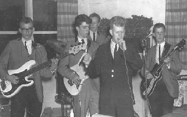 The Shays in 1963 photo, from left: Steve Naylor, Denis Ahlborn, Jim Harvey, Ken Heinrich and George Mattson