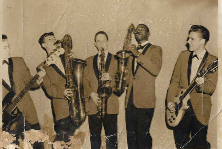 The Blue Chords - Steve Epperly, John Laughter, David Epperly, Alford Thompson, Roger Bailey.Missing from photo, Arnold Smith