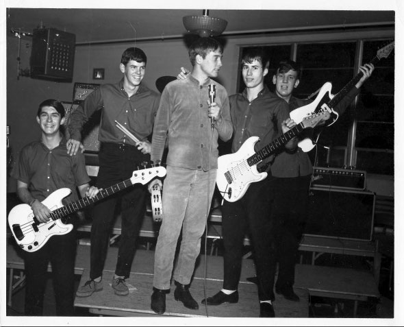 Stanley and the Grass at Las Cruces High School 1965, Lynn McIntyre, Dennis Finn, Stanley Stenner, James (Timmy) Schaefer, and JT Archer