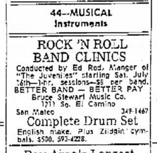 Juveniles, Ed Rod, San Mateo Times, July 15, 1966