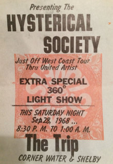 The Hysterical Society at The Trip Poster