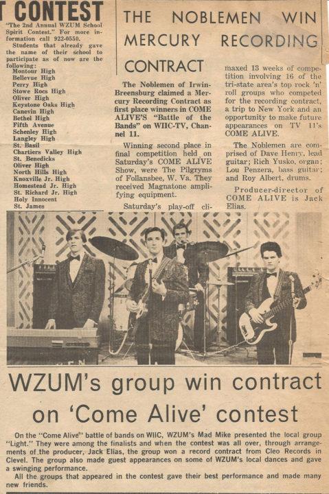 Noblemen 4 Won Mercury Recording Contract