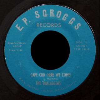 Balladeers 45 Cape Cod Here We Come on EP Scroggs