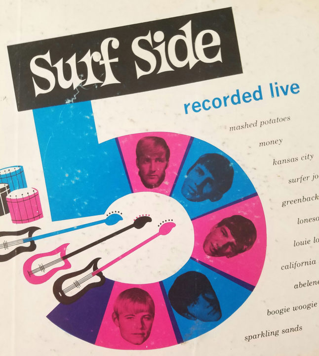 Surf Side 5 LP Recorded Live cover to the original pressing