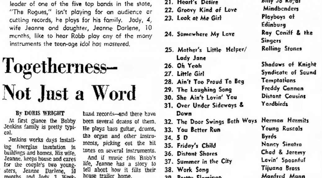 Robb London, San Antonio Express and News, July 9, 1966