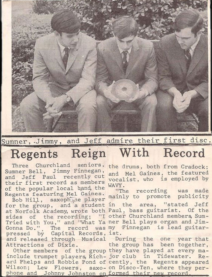 The Regents Record Release Clipping