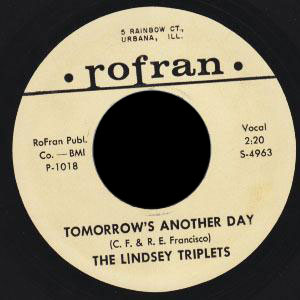 Lindsey Triplets Rofran 45 Tomorrow's Another Day