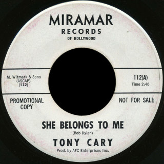 Tony Cary Miramar 45 She Belongs to Me