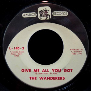 Wanderers Warrior 45 Give Me All You Got