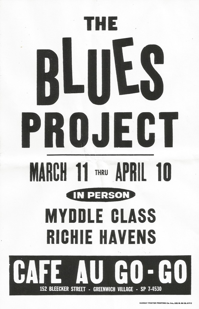 Blues Project Myddle Class Richie Havens Cafe Au Go Go March April