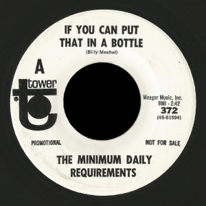 Minimum Daily Requirements Tower 45 If You Can Put That In A Bottle