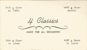 Myddle Class - 4 Classics Business Card
