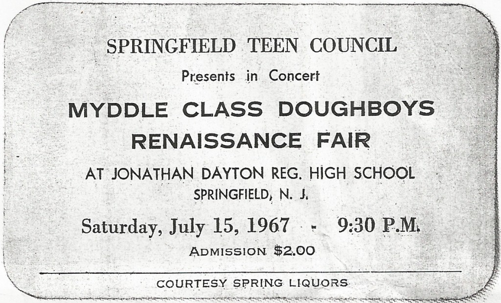 Myddle Class Dougboys Renaissance Fair Springfield, July 15, 1967