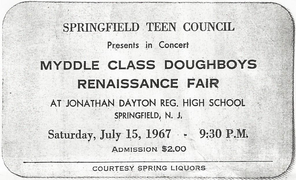 Myddle Class Dougboys Renaissance Fair Springfield, July 15, 1967