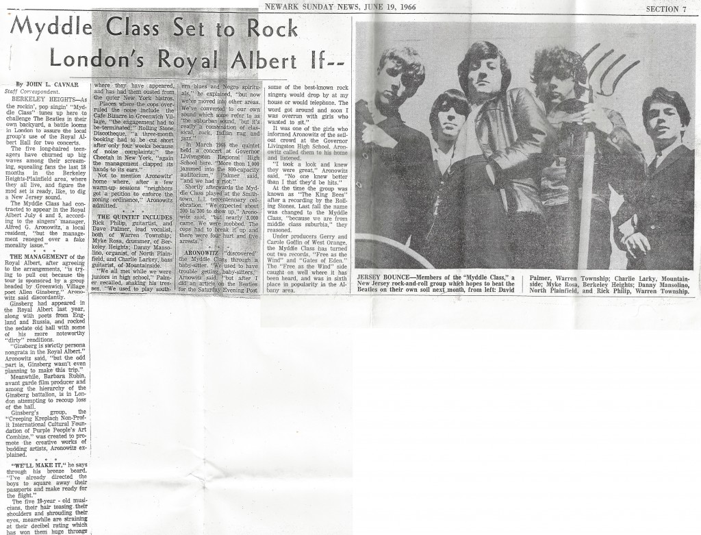 Myddle Class Newark Sunday News, June 19, 1966