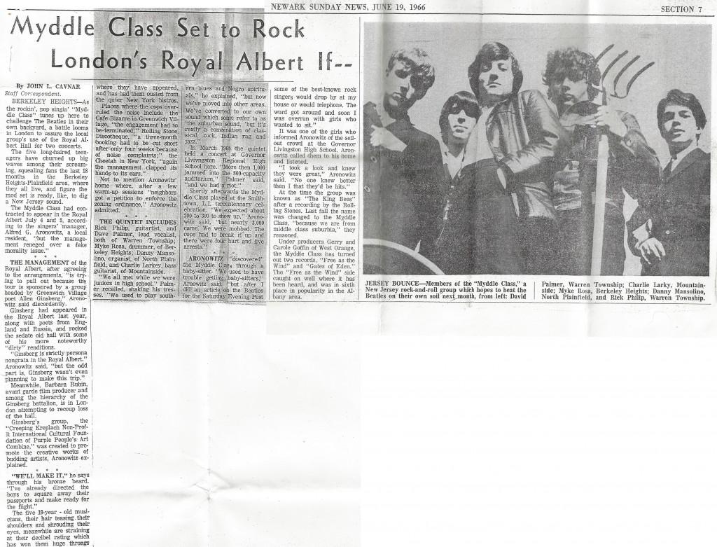 Myddle Class Newark Sunday News, June 19, 1966