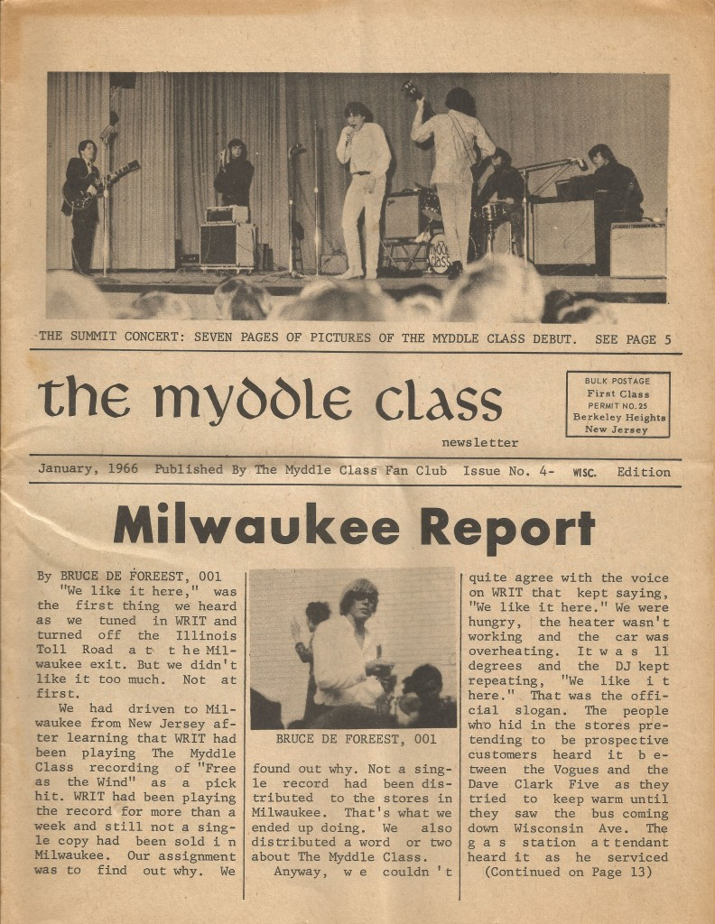 Myddle Class Newsletter Issue 4, front cover