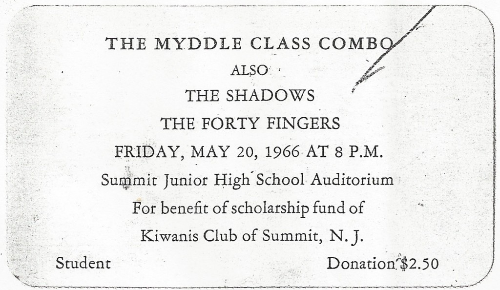Myddle Class, Shadows & Forty Fingers, May 20, 1966 Summit Junior High