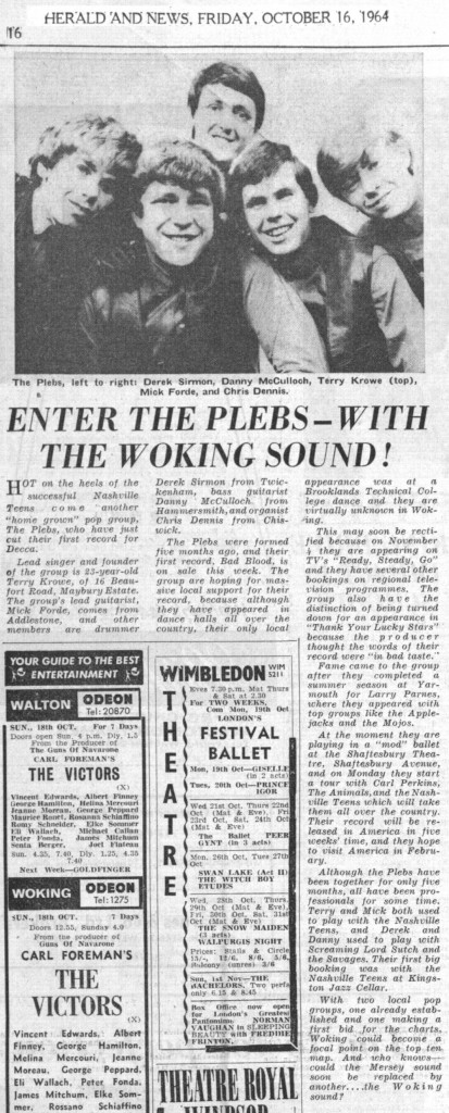 Plebs, Herald & News, 1964 Oct16