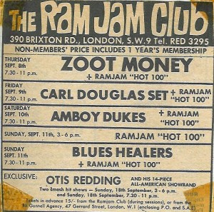Ram Jam Club Zoot Money Otis Redding