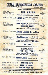 Ram Jam Club advert 1967