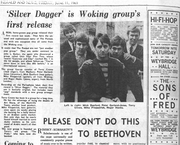 The Pentad - Woking Herald 1965 June 11