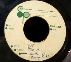 "The 4 Sam Philips Studios Acetate ""69"""
